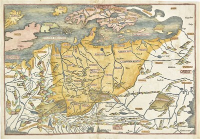 Lot 26-Central & Northern Europe. Schedel (Hartmund), Untitled map, [1493]