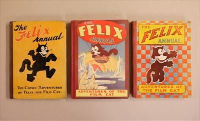 Lot 614 - Felix Annuals. The Felix Annual: Picture Stories of the Famous Film Cat, 1924, 1926, and 1928