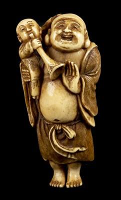 Lot 88 - Netsuke. A fine Japanese Meiji period ivory netsuke