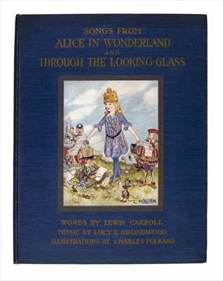 Lot 609 - Dodgson (Charles Lutwidge, 'Lewis Carroll'). Songs from Alice in Wonderland ..., 1921
