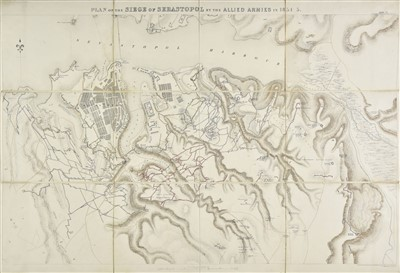 Lot 30-Crimean War. Plans of the Siege of Sebastopol, 1862