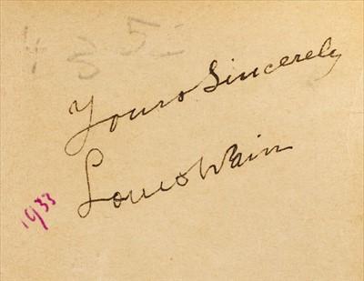 Lot 659 - Wain (Louis). Great Big Midget Book, Dean & Son, Ltd., [1934]