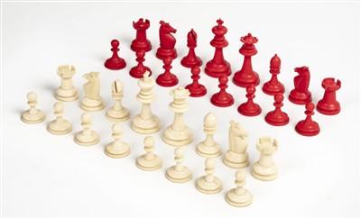 Lot 49 - Chess set. An Edwardian ivory chess set