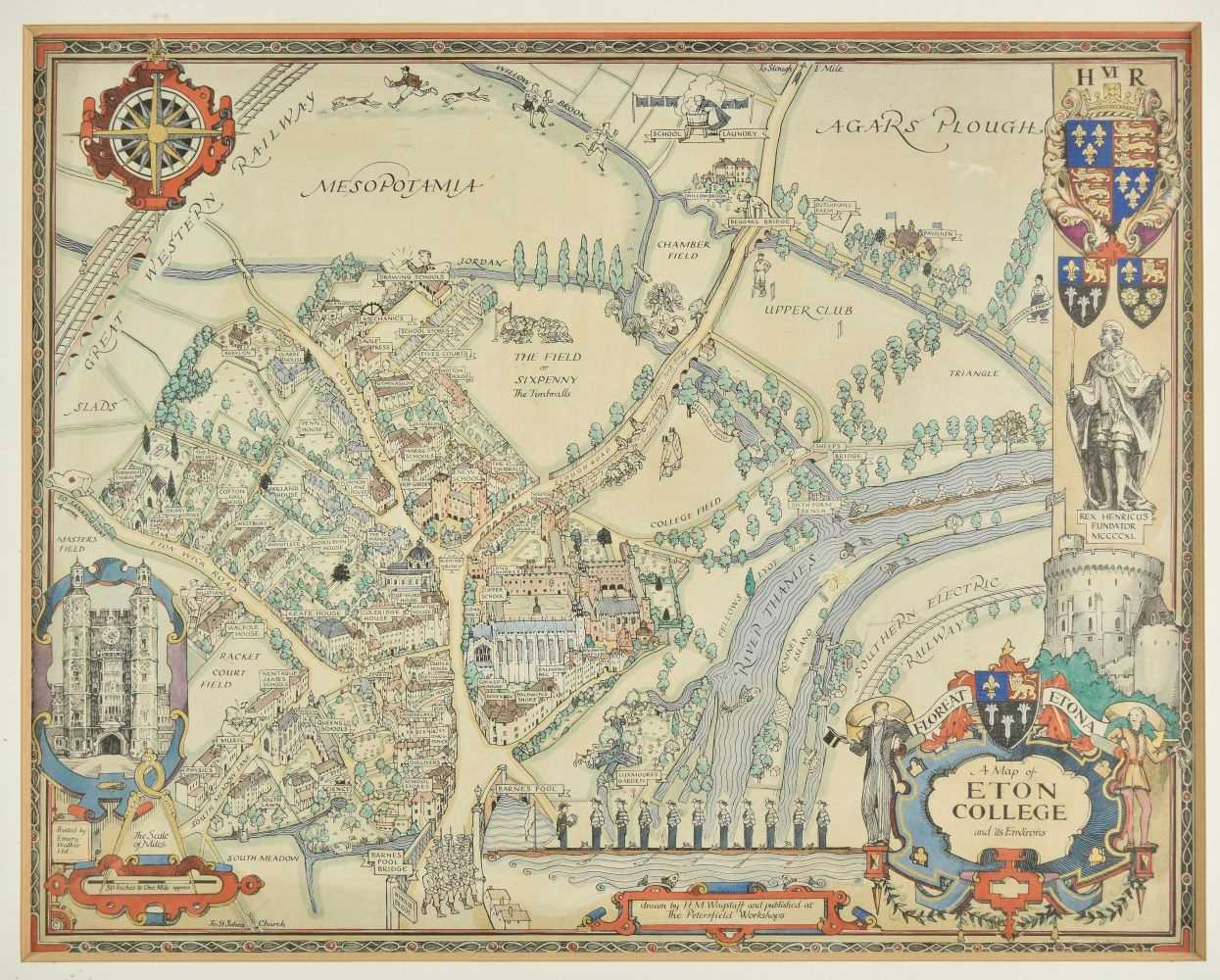 Lot 37-Eton. Wagstaff (H. M.), A Map of Eton College and its Environs, circa 1948