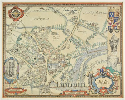 Lot 44-Eton. Wagstaff (H. M.), A Map of Eton College and its Environs, circa 1948