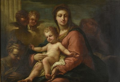 Lot 210-Italian School. The Holy Family, 17th century