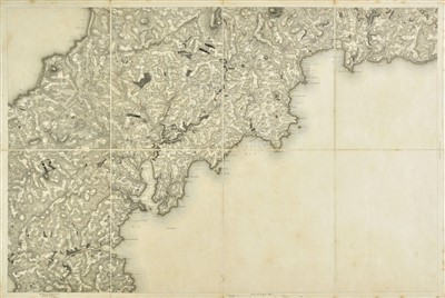 Lot 28-Cornwall. Mudge (Lt Col.), Ordnance Survey map of Cornwall, 1813