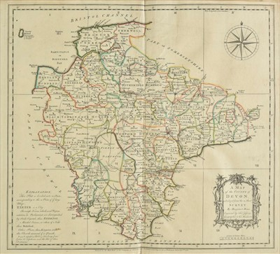 Lot 33-Devon. Donn (Benjamin), A Map of the County of Devon, 1765