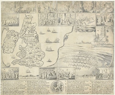 Lot 22-British Isles. Hollar (Wenceslaus), Untitled map, circa 1682
