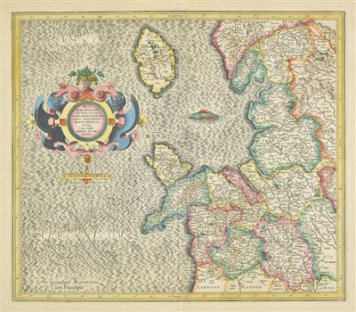 Lot 40-England & Wales. A mixed collection of ten maps, 17th - 19th century