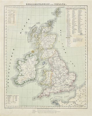 Lot 19-British Isles.  A mixed collection of thirteen maps, mostly 18th & 19th century