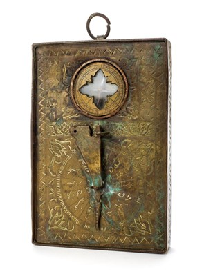 Lot 83 - Indo-Persian Compass. An early 20th century Qibla indicator