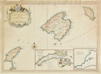 Lot 10-Balearic Islands. Bellin (Jacques Nicolas), Carte des Isles de Maiorque..., 1740