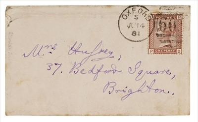 Lot 607 - Dodgson (Charles Lutwidge, 1832-1898). Autograph envelope