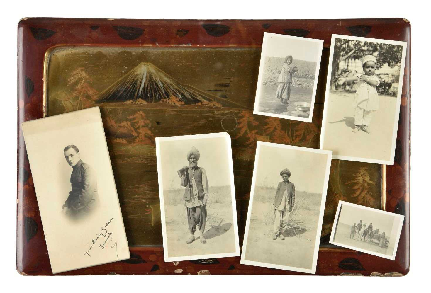 Japan & India. An archive of snapshot photographs and a small quantity of...
