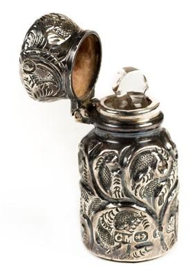 Lot 43 - Scent bottle. A Victorian miniature silver scent bottle