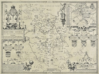 Lot 12-Bedfordshire. Speed (John), Bedford Shire..., 1611