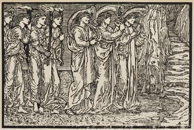 Lot 666 - Burne-Jones (Edward). Psyche's Marriage Procession woodcut