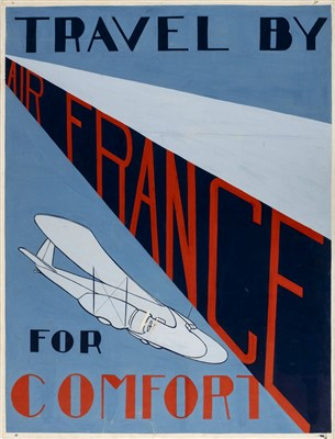 Lot 40-Air France 'Travel for Comfort'. Original poster artwork, c. 1930s