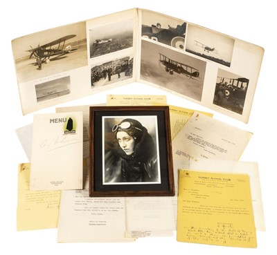 Lot 43-Amy Johnson & Flying Club memorabilia. Circa 1930s-1940