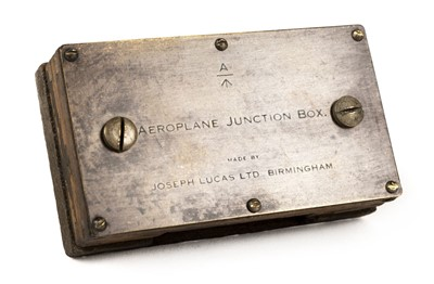 Lot 39-Aeroplane Junction-Box. Joseph Lucas & Co Birmingham, circa 1914-1916