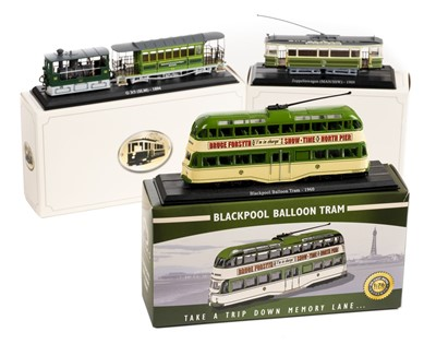 Lot 8-Trams. A collection of die cast model trams