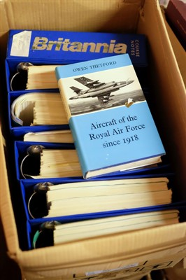 Lot 45-Aviation collectables. A large collection of books, aircraft manuals, postcards and ephemera