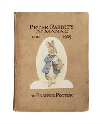 Lot 645 - Potter (Beatrix). Peter Rabbit's Almanac for 1929, Frederick Warne, [1928]