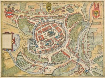 Lot 64 - Poland. (Braun Georg & Hogenberg Franz), Die Stat Swybuschin, circa 1580