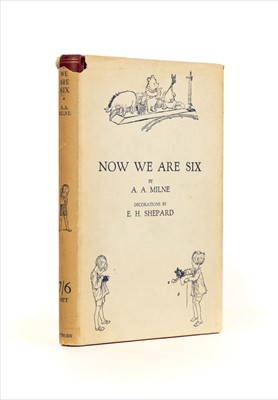 Lot 635 - Milne (A. A.). Now We Are Six, with Decorations by Ernest H. Shepard, 1927