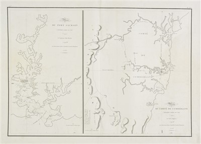 Lot 7-Australia. Freycinet (Henri-Louis), Plan du Port Jackson, 1802