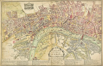 Lot 53 - London. Roades (William), A Pocket Map of the Citties of London & Westminster..., 1743