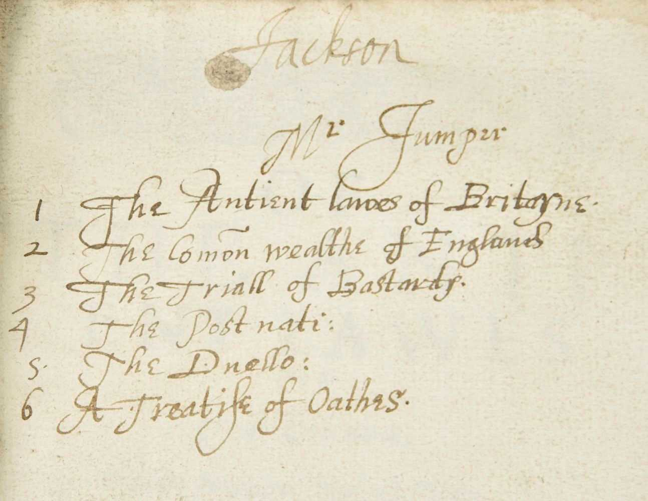 Law. Sammelband of English legal tracts, [c.1590]-1610