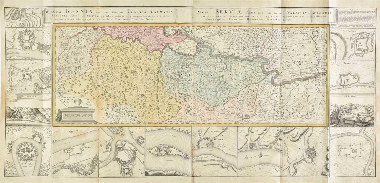 Lot 3-Balkans. Homann (Johann Baptist, heirs of). Regnum Bosniae.., circa 1740