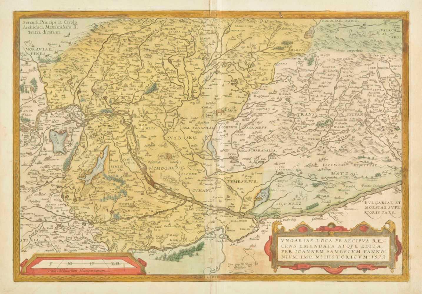 Lot 45 - Hungary. Ortelius (Abraham), Ungariae loca Praecipua..., 1584