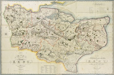 Lot 50 - Kent. Greenwood (C.), Map of the County of Kent, 1821