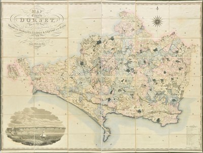 Lot 22-Dorset. Greenwood (C. & G.), Map of the county of Dorset, 1826