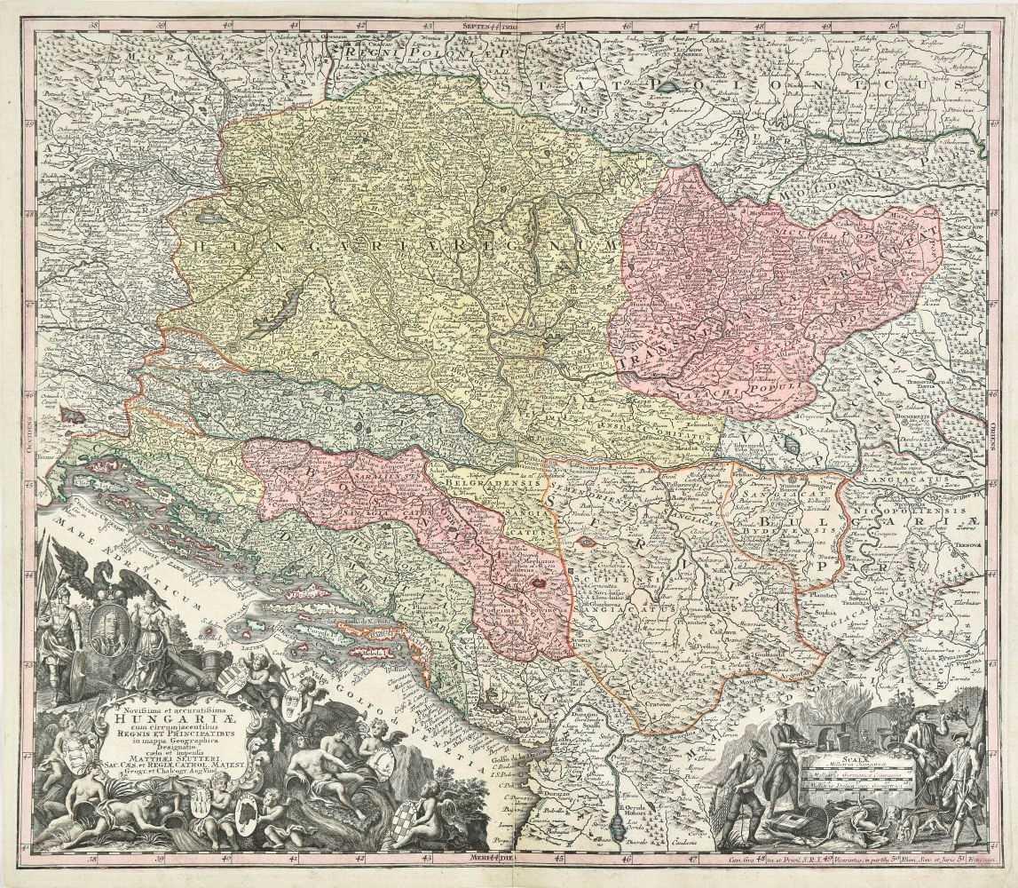 Lot 46-Hungary. Seutter (George Matthaus), Hungariae, circa 1745