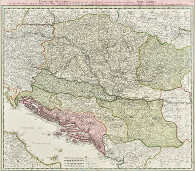 Lot 2 - Balkans. Homann (Johann Baptist), Danubii Fluminis..., pars Media & pars Infima, circa 1720