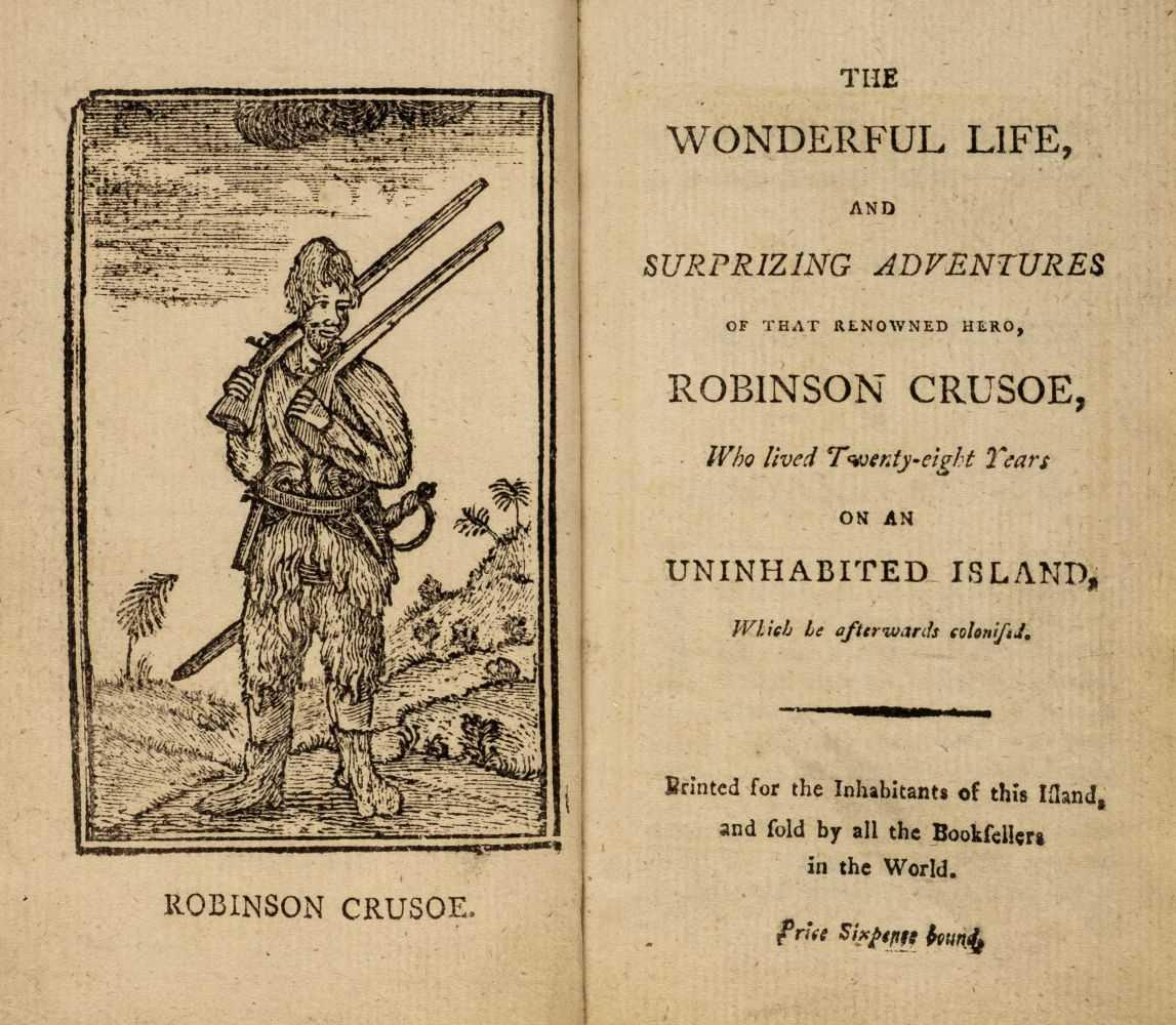 Lot 561-Defoe (Daniel). The Wonderful Life of Robinson Crusoe, 1794