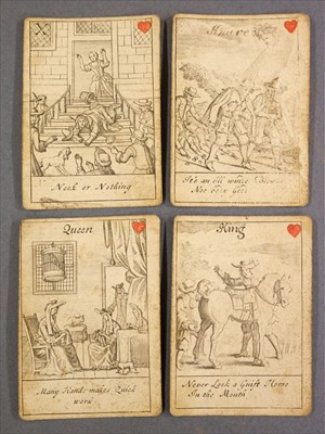 Lot 543-Playing Cards. Proverbial Cards, [John Lenthall], between 1718 & 1744
