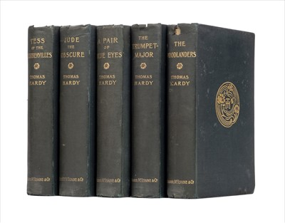 Lot 821-Hardy (Thomas). A collection of five Wessex Novels inscribed by the author, 1895-1896