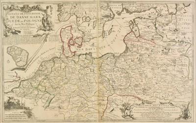 Lot 59 - Northern Europe.  De Fer (Nicolas), Estats des Couronnes de Dannemark..., 1705