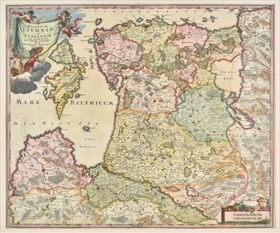 Lot 4 - Baltic coast. Homann (Johann Baptist), Ducatuum Livoniae, circa 1720
