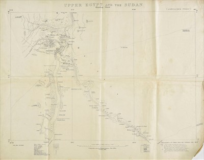 Lot 404 - Omdurman 1898. A set of 4 maps used by Rear-Admiral H.L. Hood during the Battle of Omdurman