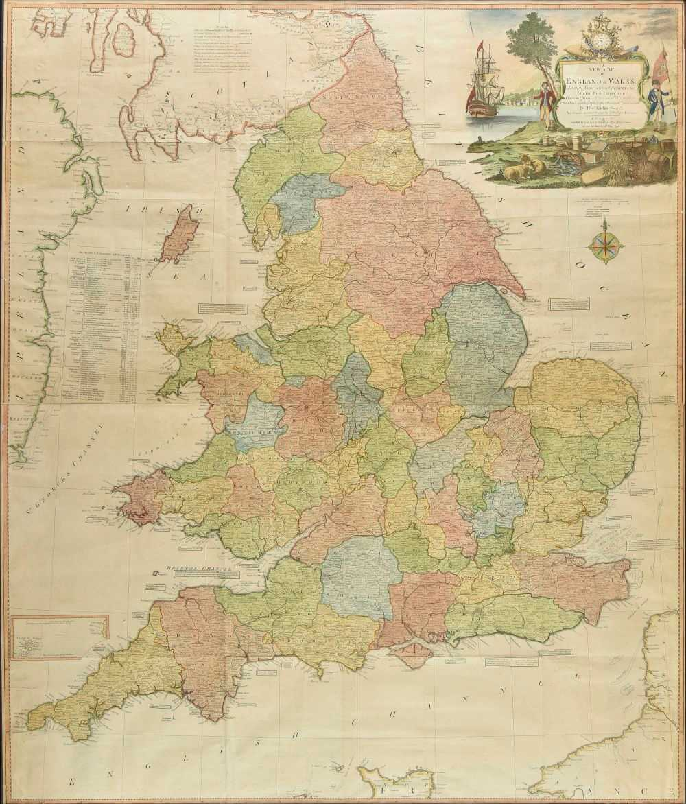 Lot 34-England & Wales. Kitchin (Thomas), A New Map of England & Wales, 1794