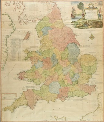 Lot 34 - England & Wales. Kitchin (Thomas), A New Map of England & Wales, 1794