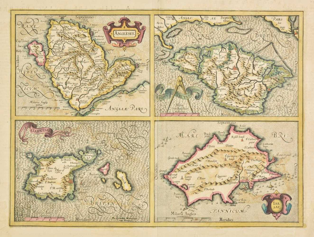 Lot 16-Channel Islands. A collection of seven maps, 17th - 19th century