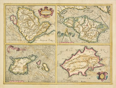 Lot 16 - Channel Islands. A collection of seven maps, 17th - 19th century