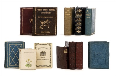 Lot 568 - Miniature books. A collection of miniature books published by the Lilliput Press, 1985-1991